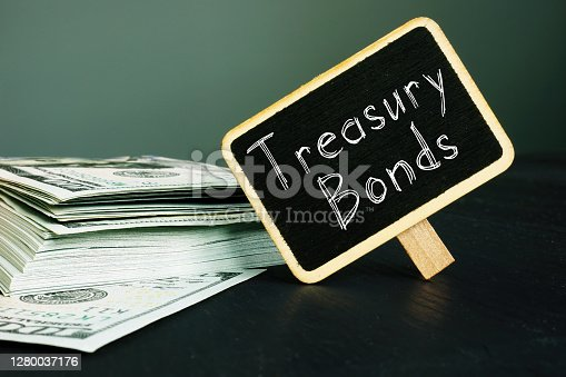 Treasury bonds is shown on a conceptual business photo