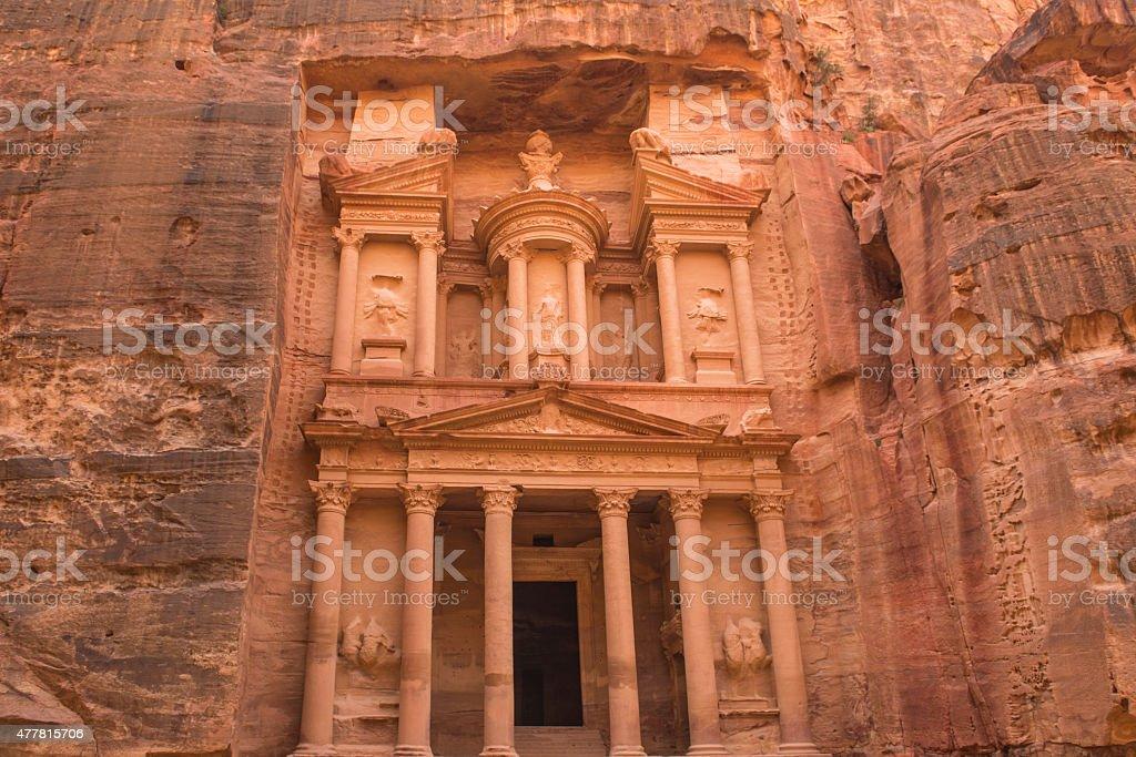 Treasury Building Ancient City of Petra, Jordan stock photo