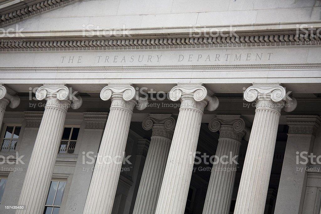 US Treasury Building, Washington DC royalty-free stock photo