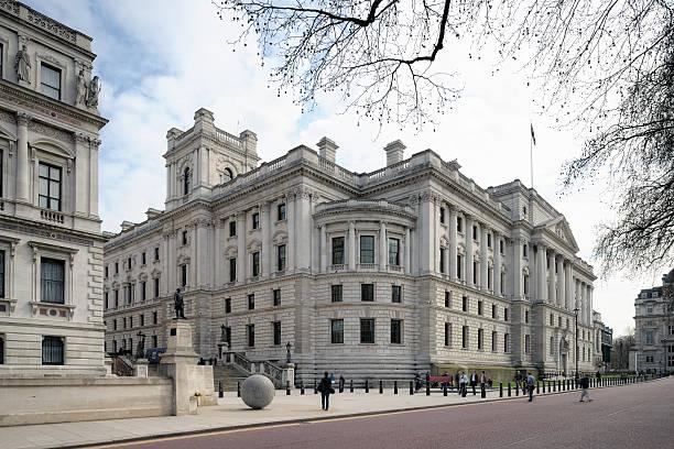 Tesorería edificio, Westminster, Londres, Inglaterra, Reino Unido - foto de stock