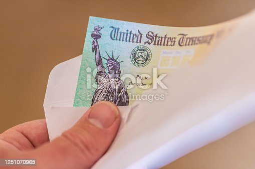 US Treasury Check. Used for tax refunds and also the Covid-19/coronia virus stimulus payments in 2020