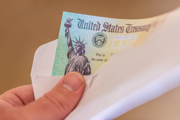 US Treasury Check stock photo