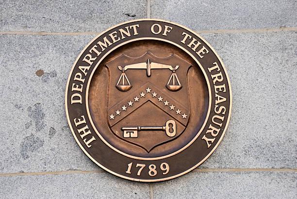 EE. UU. Departamento de Tesorería - foto de stock