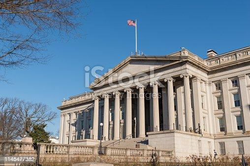 US Treasury Department at 1500 Pennsylvania Avenue NW in Washington DC