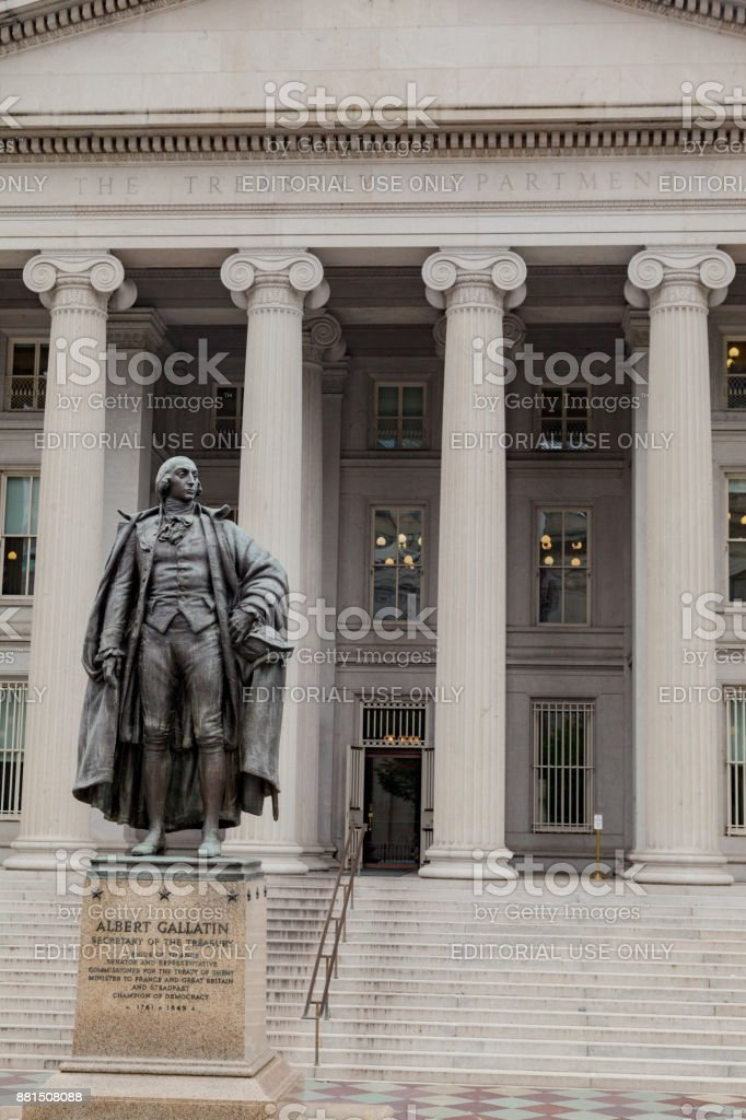 US Treasury Department Washington DC stock photo