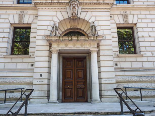 HM tesouraria em Londres - foto de acervo