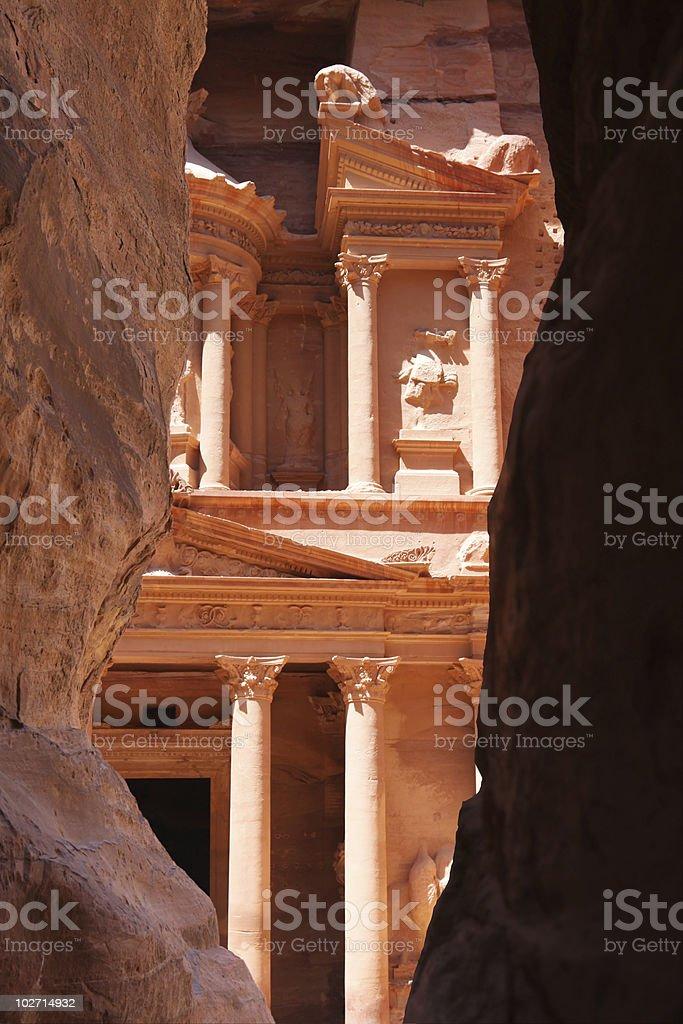 Treasury in petra jordan stock photo