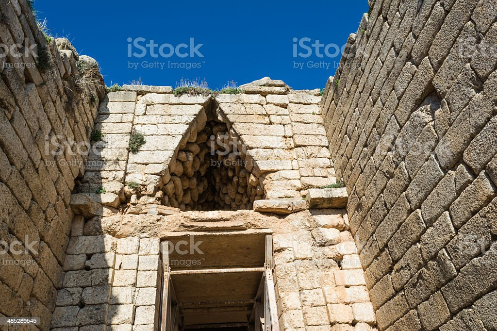 Treasury of atreus at mycenae, Greece stock photo