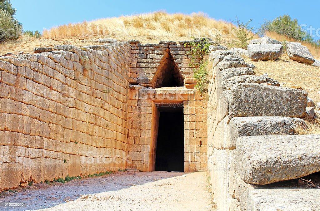 Treasury of Atreus in Mycenae, Greece stock photo