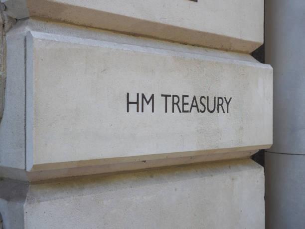 O tesouro do HM assina dentro Londres - foto de acervo