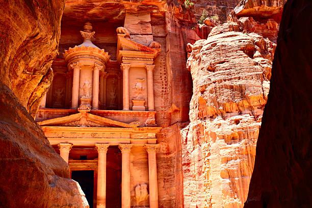 Treasury temple at Petra stock photo