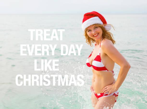 behandeln sie jeden tag wie weihnachten - zitate weihnachten stock-fotos und bilder