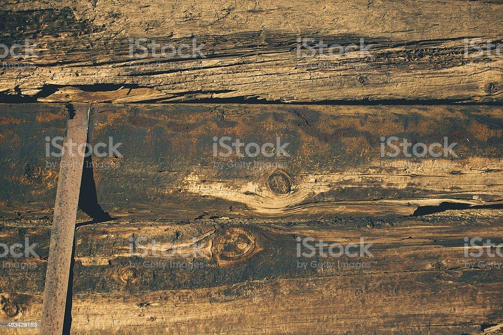 treated railroad ties background stock photo