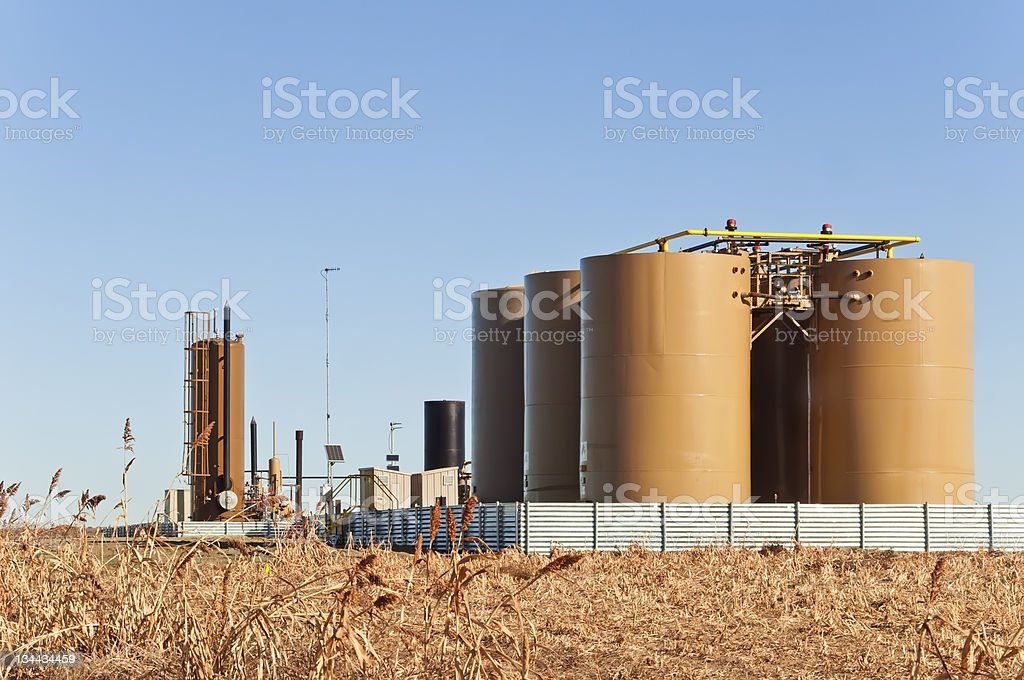 Treater Tanks For Crude Oil And Condensate stock photo