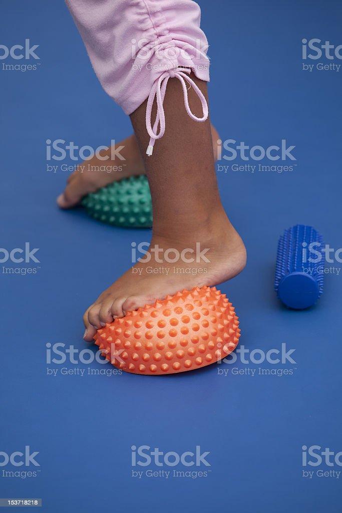 Treatment of flat feet stock photo