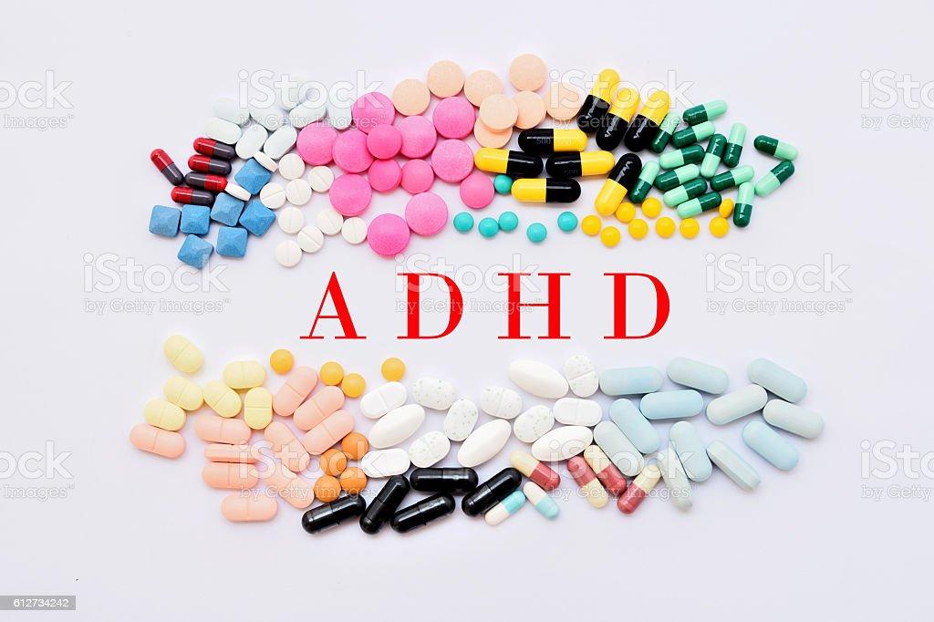 ADHD treatment stock photo