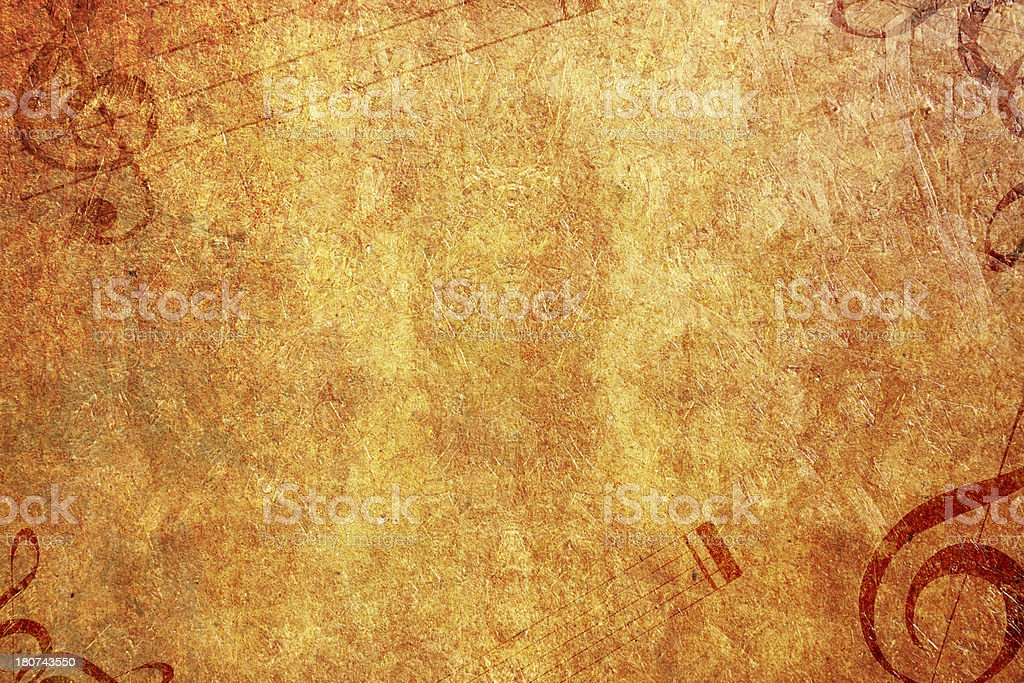 Treble Clef On Vintage Paper royalty-free stock photo