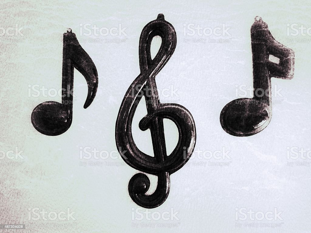 Treble Clef Quaver Semiquaver Quarter Note Musical Symbols