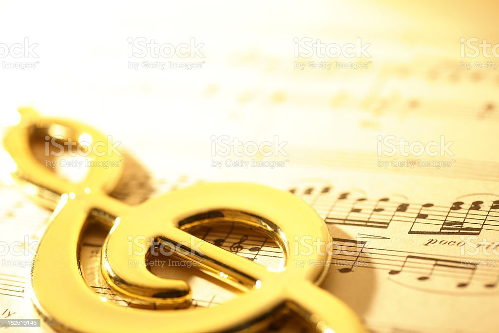 Treble Cleff royalty-free stock photo