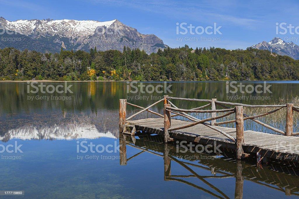 Trebol lagoon, Patagonia, Argentina stock photo