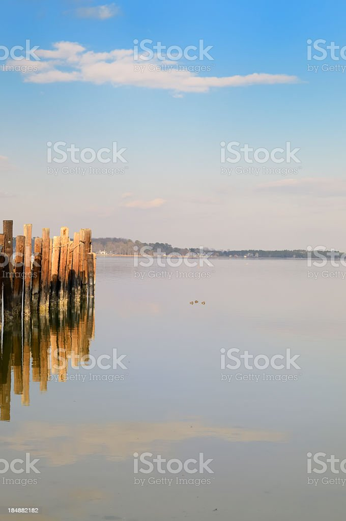 Tred Avon River At Oxford Maryland stock photo