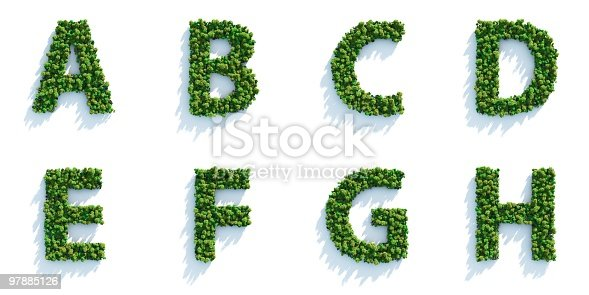 istock Tree Alphabet Part 01: Top View 97885126