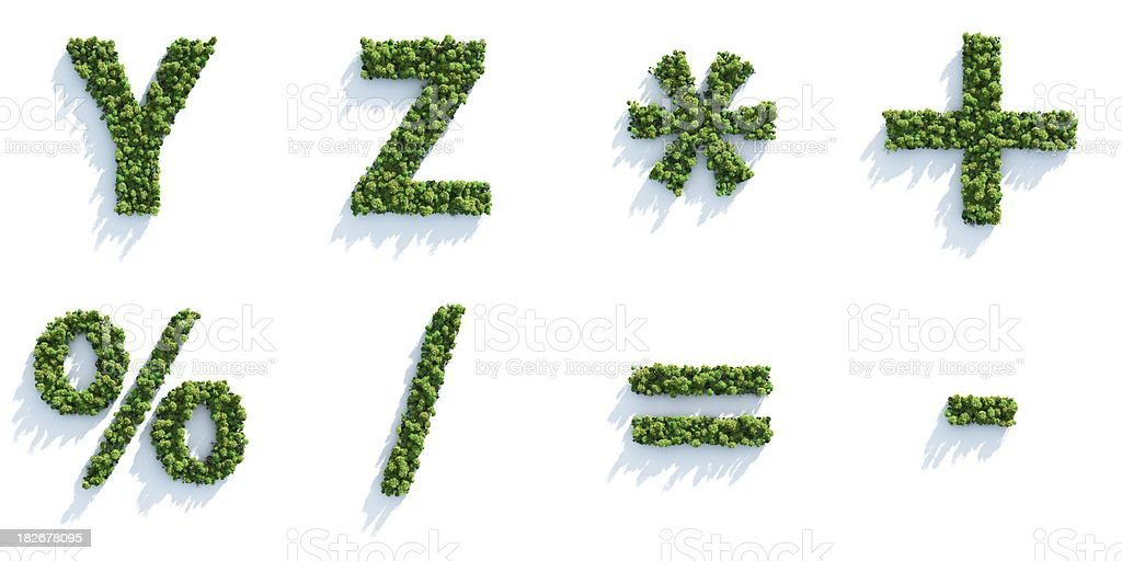 Tree Alphabet: Top View royalty-free stock photo