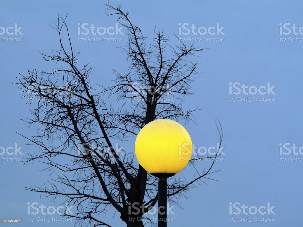 Tree and street lamp royalty-free stock photo