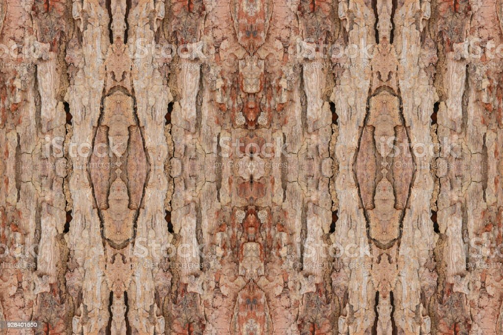 Tree Bark Texture Seamless Pattern Wood Shell For Background Stock