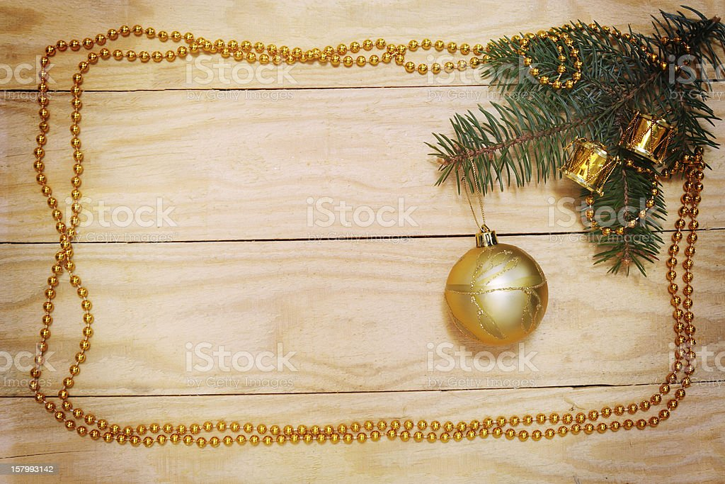 tree branch with ball royalty-free stock photo