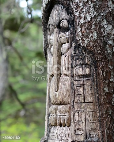 istock Tree carved by native Tlingit indians 479604160