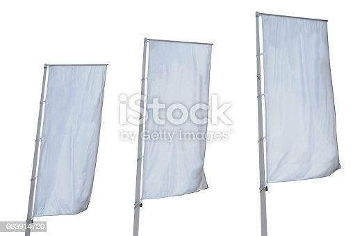 istock Tree empty banners isolated 663914720