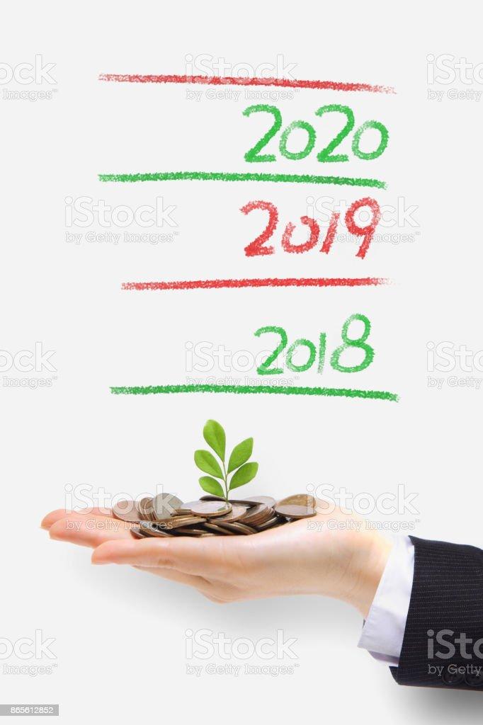 tree grow up in 2018 stock photo