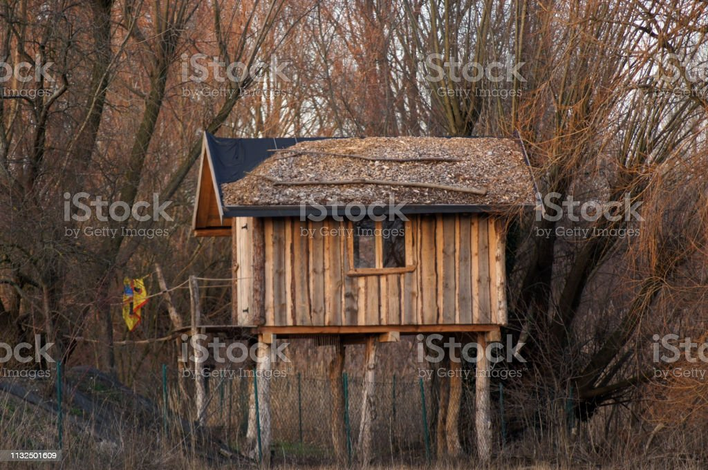 Picture of: Tree House Cottage Wooden Cottage Stalls For Children Stock Photo Download Image Now Istock
