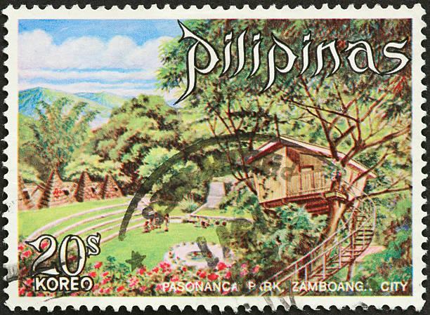 tree house, Pasonanca Park, Zamboang, Philippines stock photo
