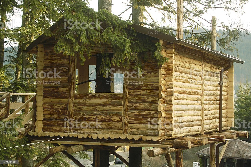 Tree house royalty-free stock photo