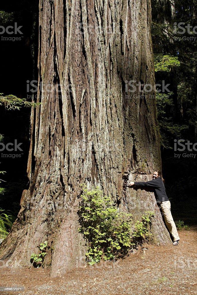 Tree Hugger Environmentalist stock photo