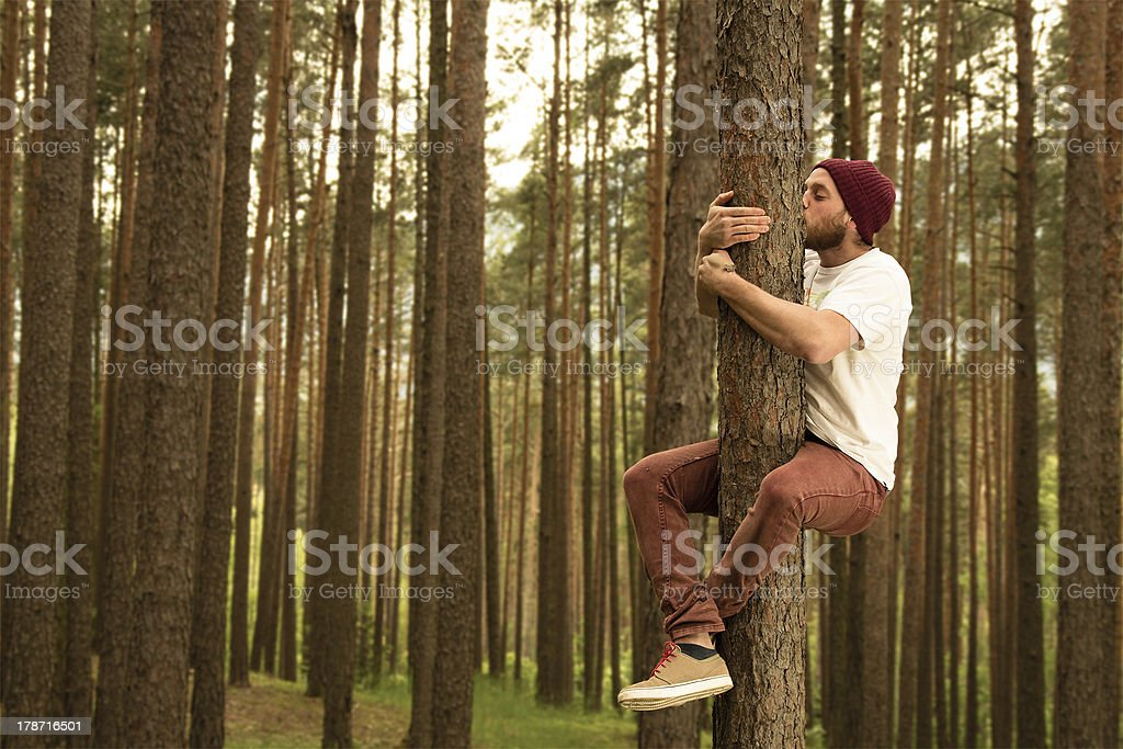Tree Hugger stock photo