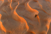 Desert high angle view from a hot air balloon.
