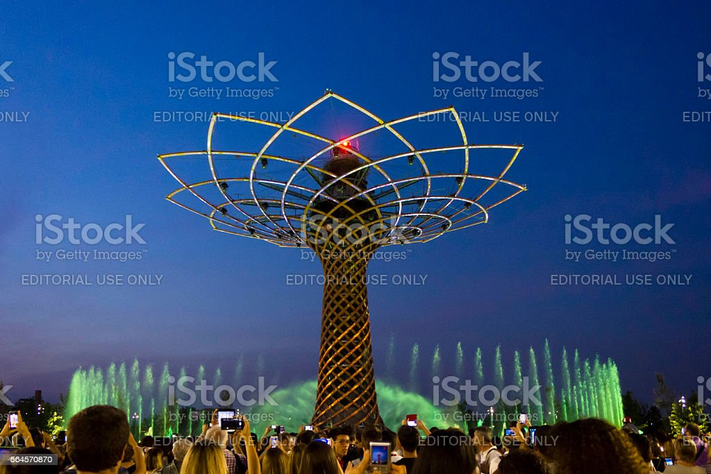 Tree of Life show in Milan stock photo