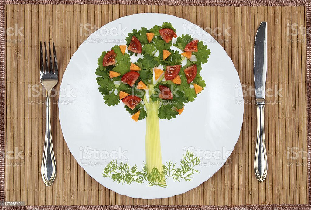 Tree of parsley and celery royalty-free stock photo