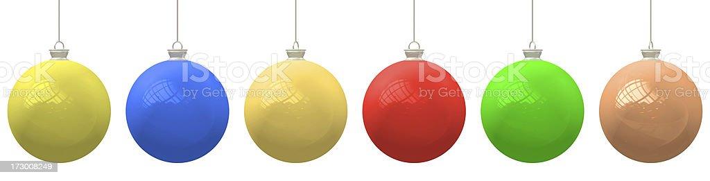 Tree ornaments royalty-free stock photo