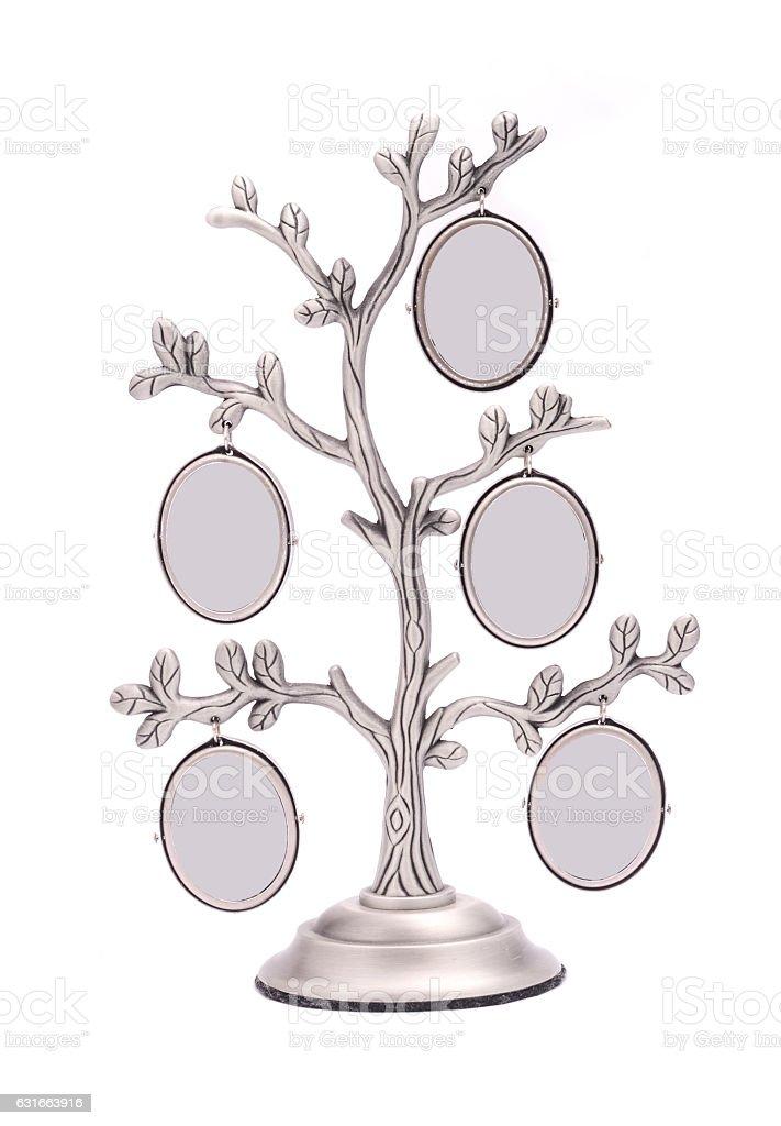 tree photo frame isolated on white stock photo