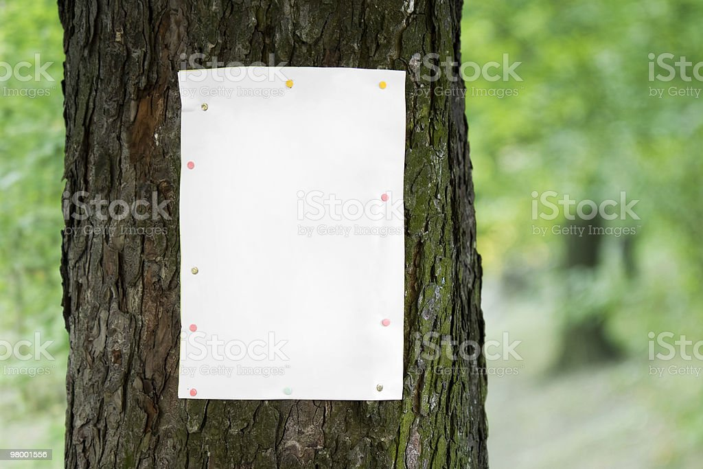 Tree poster royalty-free stock photo