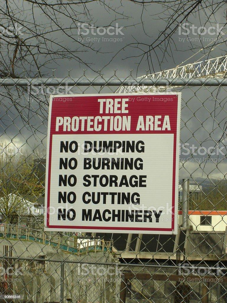 Tree Protection stock photo