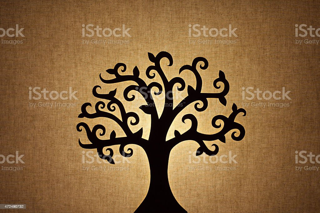 silhouette di albero - foto stock