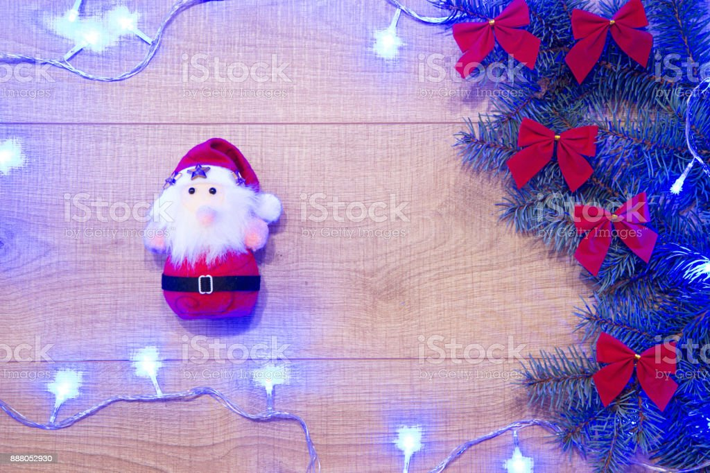 tree, snow, happy, vintage, merry, bow, red, decoration, ornamentation, adornment, celebration, wood, green, needles, space, branch, spruce, pine, resin, texture, fir-needle, floor, laminate, xmas, santa, hot, winter, light, colors stock photo