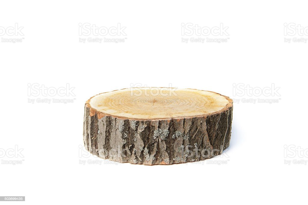 Tree stump on white background - Royalty-free Biologisch Stockfoto