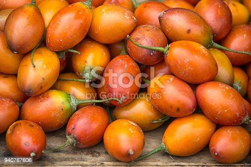 tree tomato also known as tamarillo in Ecuador