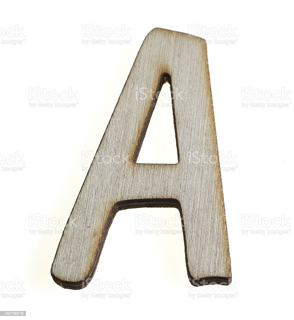 Treen Capital Letter A royalty-free stock photo